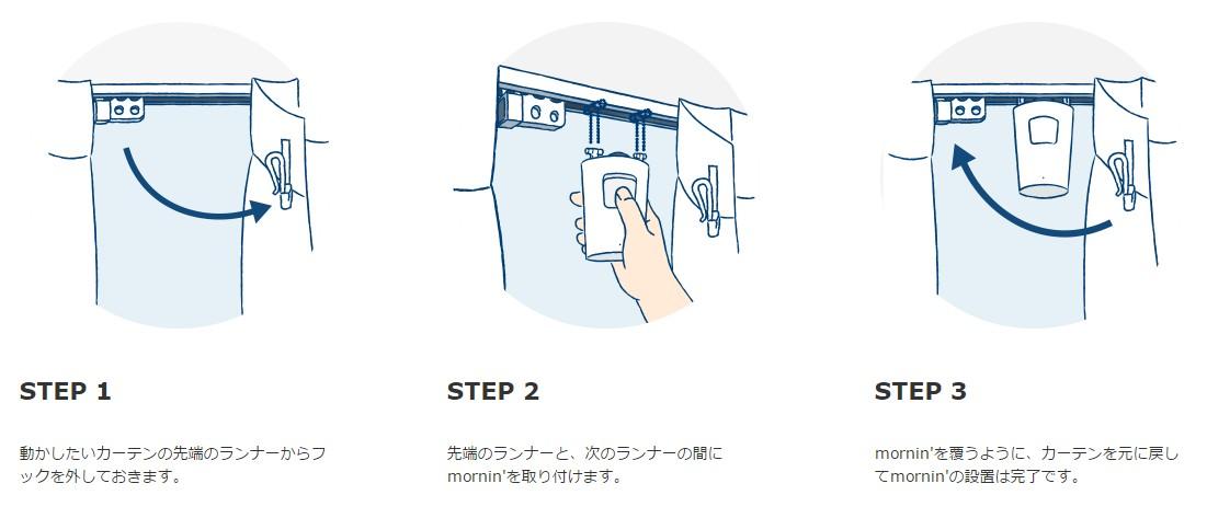 カーテンが自動で開閉するシステム