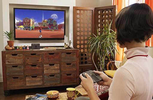 家庭用のテレビ画面でプレイ